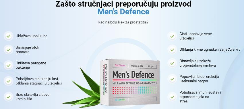 Men`S Defense najbolji tretman za prostatu, prospekt, sastojci, Hrvatska